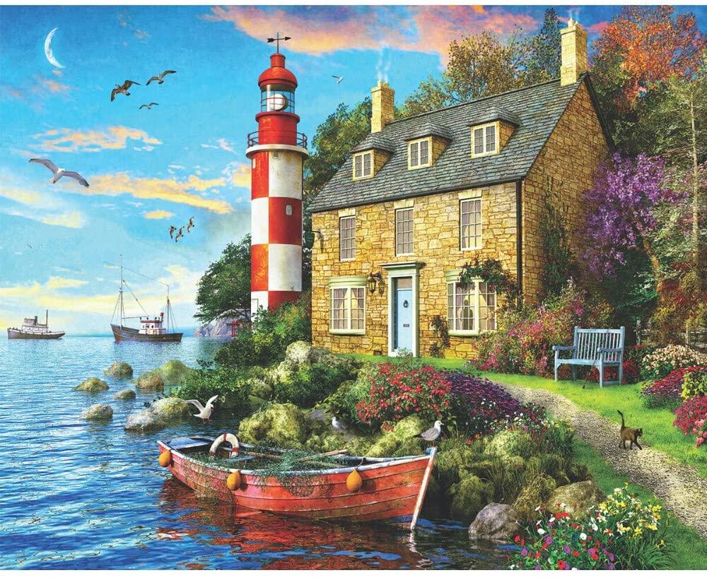 Cottage Lighthouse Puzzle 1000 piece