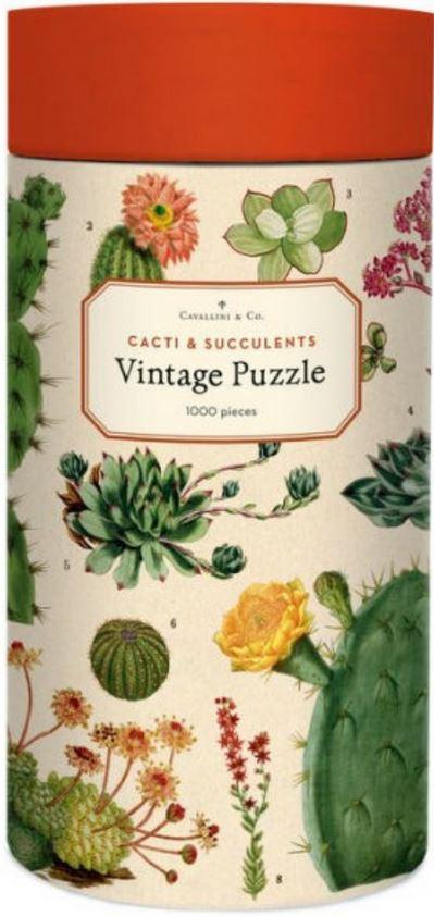 Cacti & Succulents Vintage Jigsaw Puzzle image