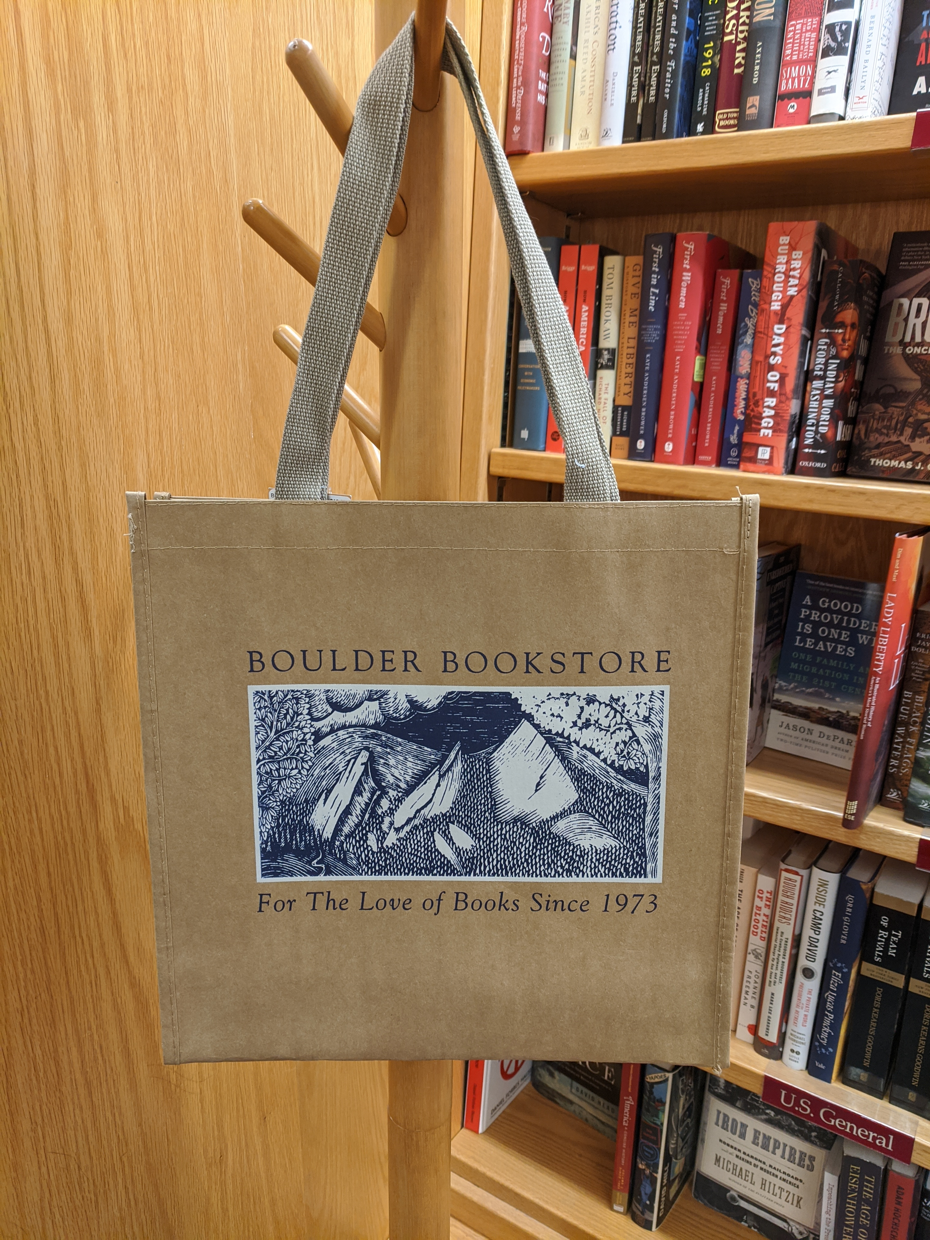 Boulder Book Store Kraft Bag Flatirons