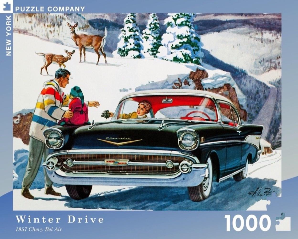 Winter Drive Jigsaw Puzzle 1000 pieces
