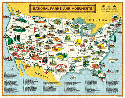 National Parks Map Puzzle image 3