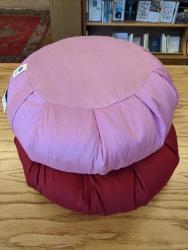 """Zafu Silk Cushion with Buckwheat 14"""""""